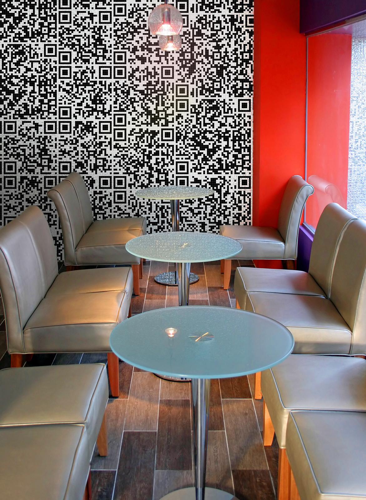 Artaic QR code tile mosaic