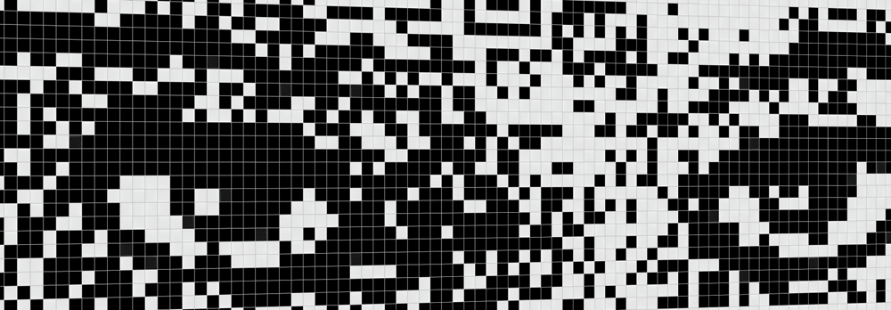 QR Code Mosaic Eyes Zoomed