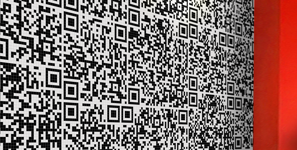 QR code tile mosaic
