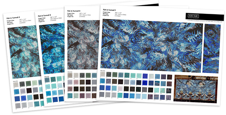custom mosaic proposal specification sheets