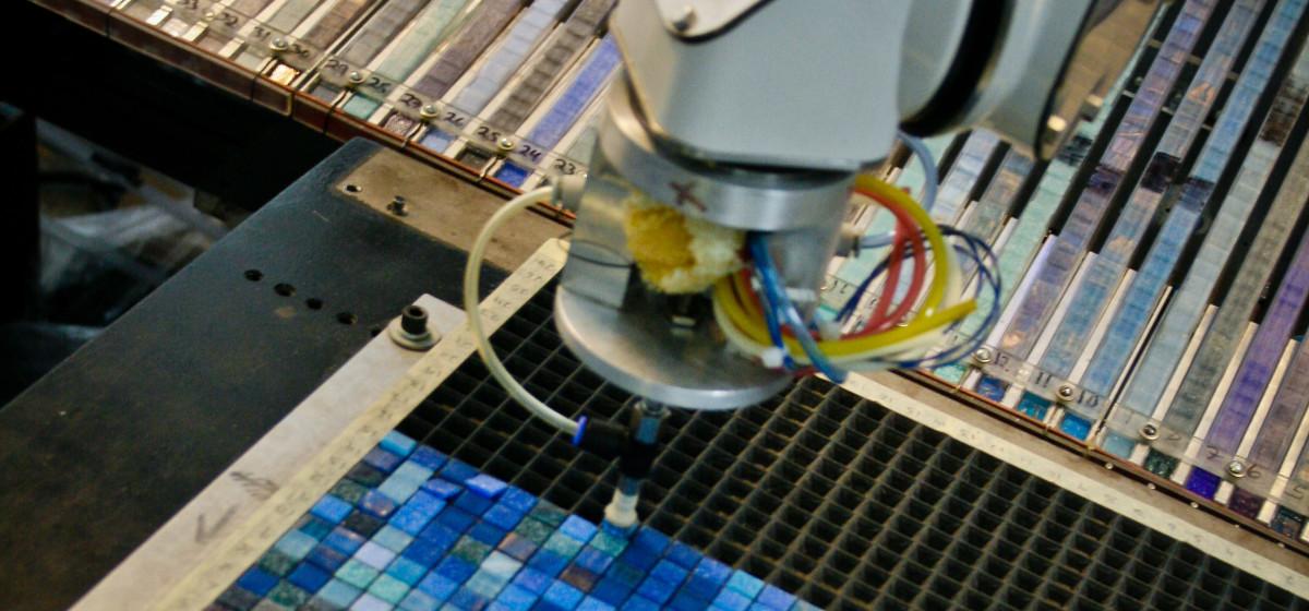 robotic mosaic production