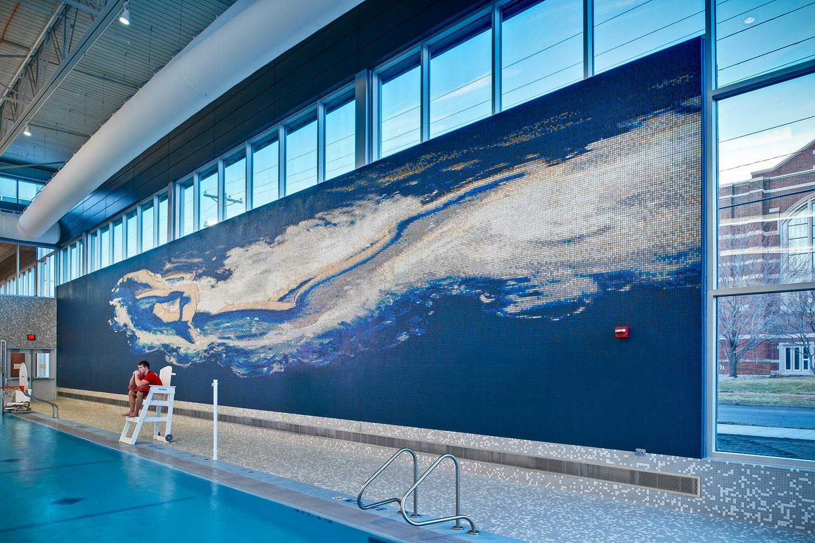 Isu Swimming Pool Custom Porcelain Mosaic Artaic