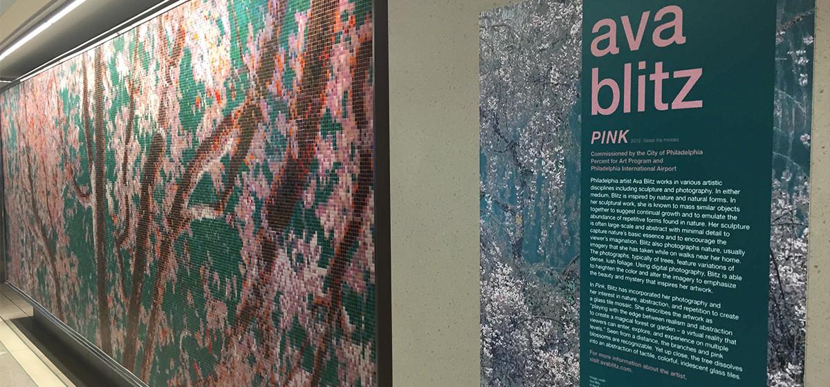 01111033 philadelphia airport ava blitz pink cherry blossom tree pattern public art mosaic tile design artaic