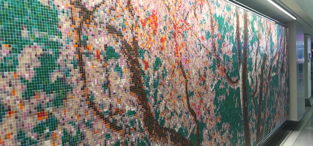 01111033 philadelphiaairport ava blitz pink cherry blossom tree pattern public art mosaic tile detail artaic