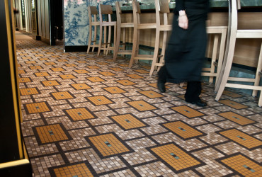 Empire Restaurant Floor tile mosaic Pattern