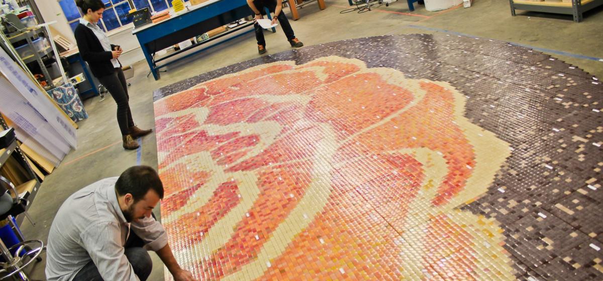 floral floor mosaic