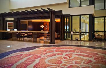 Hilton Costa Mesa Floral Floor Pendant