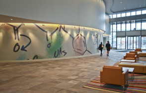 Vertex Pharmaceuticals Headquarters Lobby