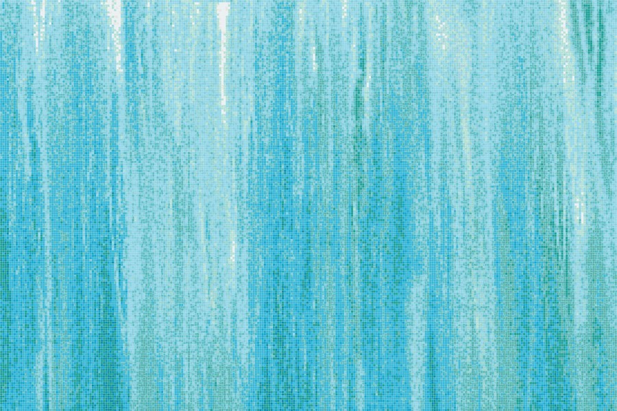 Blue water tile pattern waterfall cove by artaic for Waterfall tile design