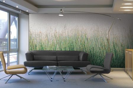 Green Grass Contemporary Artistic Mosaic installation by Artaic