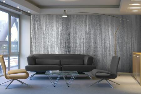 Grey Waterflow Contemporary Artistic Mosaic installation by Artaic