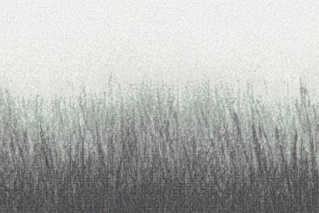 Green Grass Contemporary Artistic Mosaic by Artaic