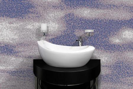 Purple Sky Contemporary Artistic Mosaic installation by Artaic