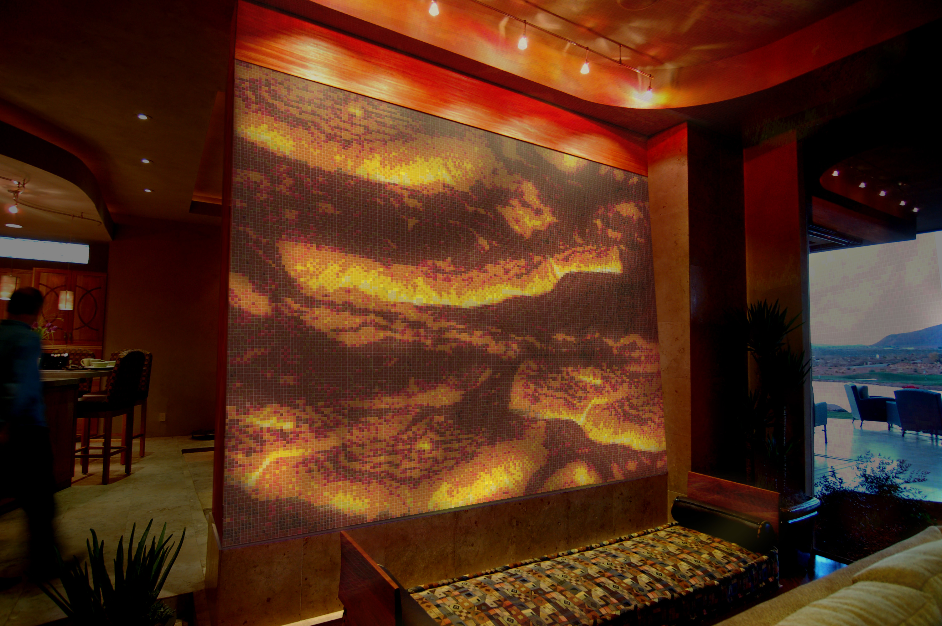 Lava Design Backlit Glass Mosaic Artaic