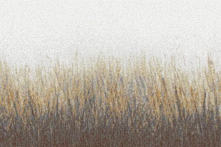Tan Grass Contemporary Artistic Mosaic by Artaic