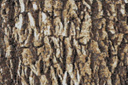 Tan Pine Bark Contemporary Textural Mosaic by Artaic