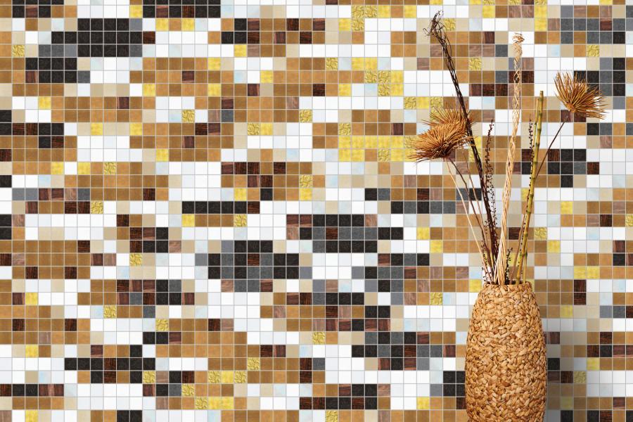 Gold Snake Skin Tile Pattern | Hydrus Golden Ember by ARTAIC