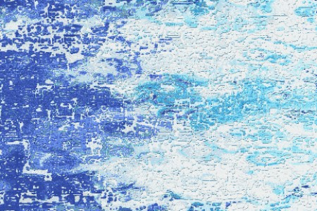 Blue landscape Contemporary Abstract Mosaic by Artaic