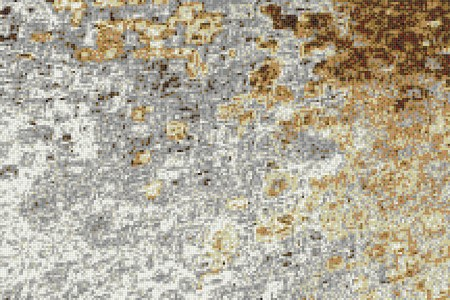 Brown droplets Contemporary Abstract Mosaic by Artaic