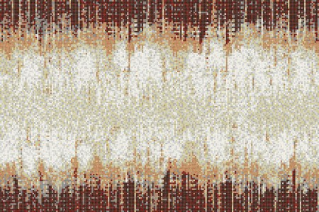 Brown Waterfall Contemporary Abstract Mosaic by Artaic