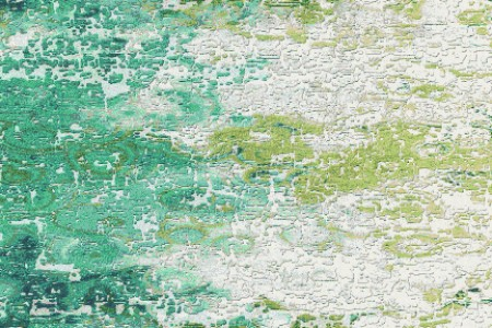 Green landscape Contemporary Abstract Mosaic by Artaic