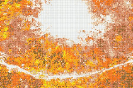 Orange eddies Contemporary Abstract Mosaic by Artaic