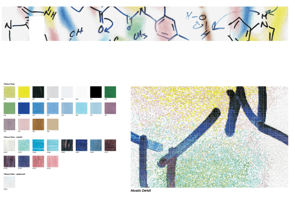 Proposal for custom Artaic mosaic for Vertex Pharmaceuticals lobby mural