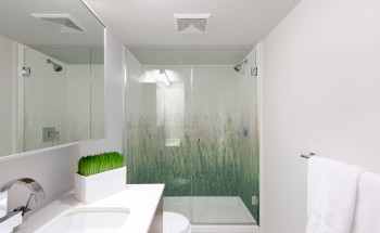 Meadow Grass Pattern Shower Wall Part 33