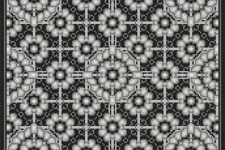 Black art nouveau Traditional Ornamental Mosaic by Artaic