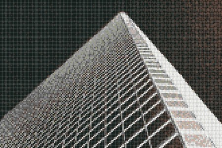 Black structural elements Contemporary Photorealistic Mosaic by Artaic