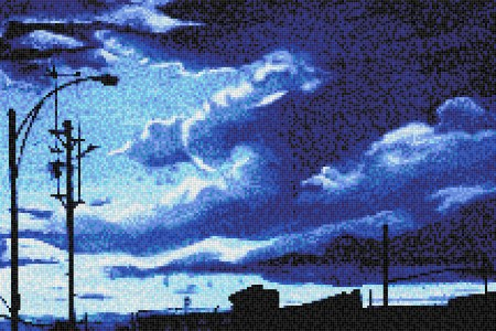 Blue clouds  Photorealistic Mosaic by Artaic