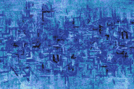 Blue pattern  Textural Mosaic by Artaic