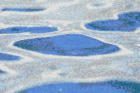 Blue surface ripples Contemporary Abstract Mosaic by Artaic