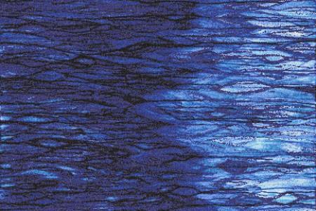 Blue water  Textural Mosaic by Artaic