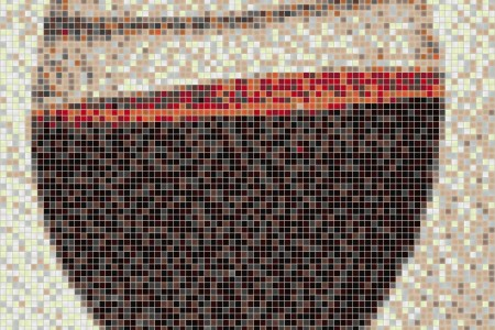 Brown glassware Contemporary Graphic Mosaic by Artaic