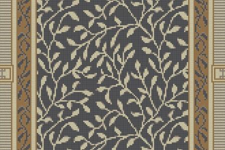 Brown vines Traditional Ornamental Mosaic by Artaic