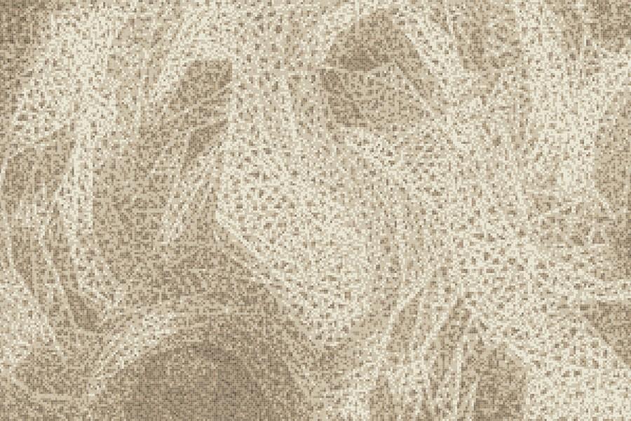 Brown weave patterns  Textural Mosaic by Artaic