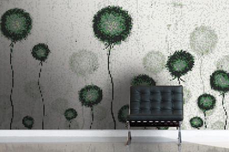 Green fields  Floral Mosaic installation by Artaic
