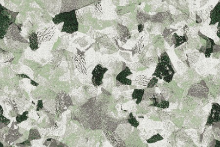 Green cutouts  Textural Mosaic by Artaic