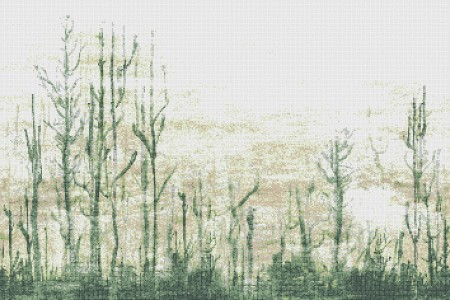 Green forest  Abstract Mosaic by Artaic