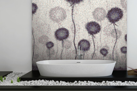 Purple fields  Floral Mosaic installation by Artaic