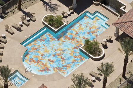 Multi layering  Textural Mosaic installation by Artaic