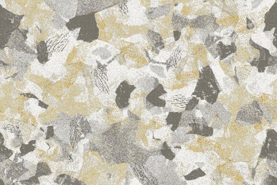 Neutral cutouts  Textural Mosaic by Artaic