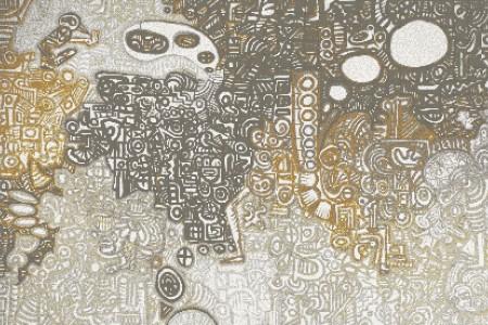 Neutral symbols  Geometric Mosaic by Artaic
