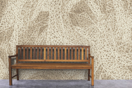 Brown weave patterns  Textural Mosaic installation by Artaic