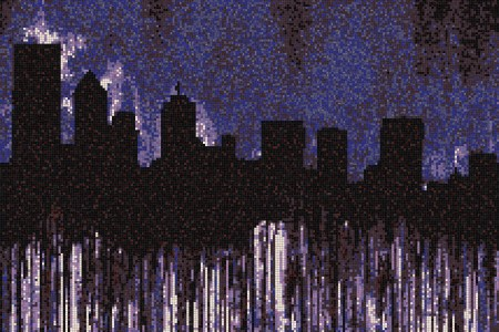 Purple cityscape  Graphic Mosaic by Artaic