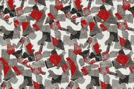 Red geometric shapes  Abstract Mosaic by Artaic