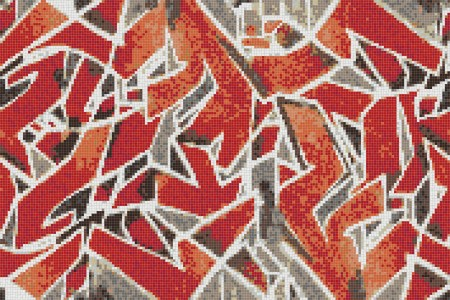 Red street art  Graphic Mosaic by Artaic