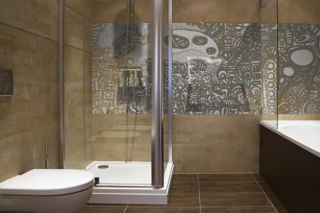 Neutral symbols  Geometric Mosaic installation by Artaic
