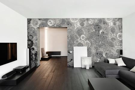 Black effervescence  Abstract Mosaic installation by Artaic